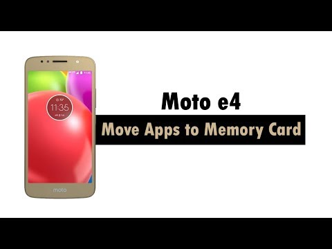 Moto E4 How To Move Apps To The Memory Card Youtube