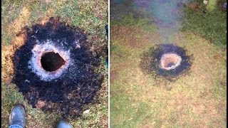 Fire Chief Discovers Giant Flaming Hole In The Ground In Arkansas thumbnail