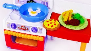 Play Doh Kitchen Cooking Pizza Food for Children