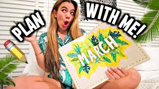 PLAN WITH ME! 🌴📅🌿 | March 2019 Bullet Journal Setup (Palm Tree theme)