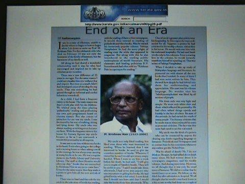 Prof.M.Krishnan Nair