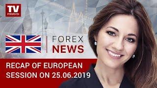 InstaForex tv news: 25.06.2019: EUR surges up despite weak data (EUR,USD, GOLD, GBP)