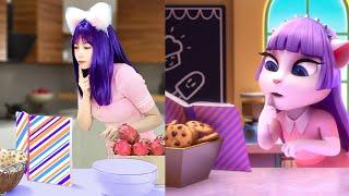 Cosplay Angela Imitate Baking With My Talking Angela 2 In Real Life screenshot 5
