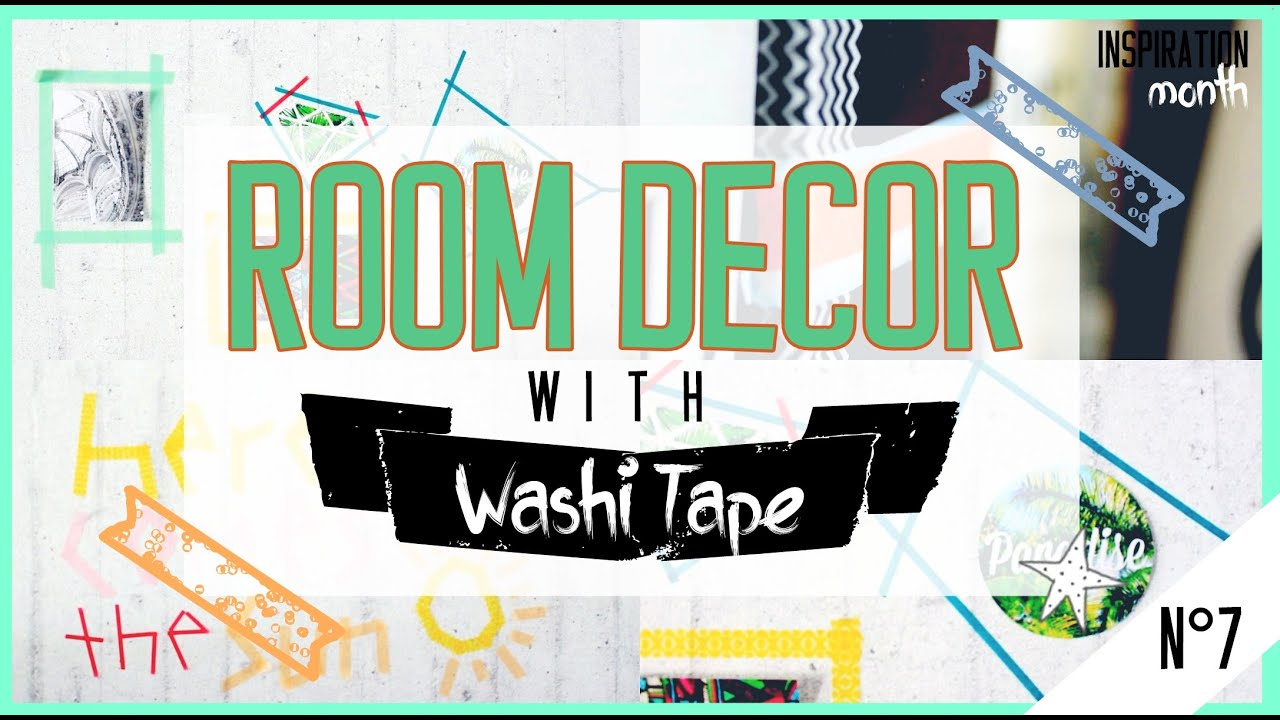 5 washi tape deko ideen inspirationmonth youtube. Black Bedroom Furniture Sets. Home Design Ideas