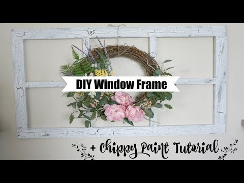 DIY WINDOW FRAME & CHIPPY PAINT TECHNIQUE | Momma From Scratch