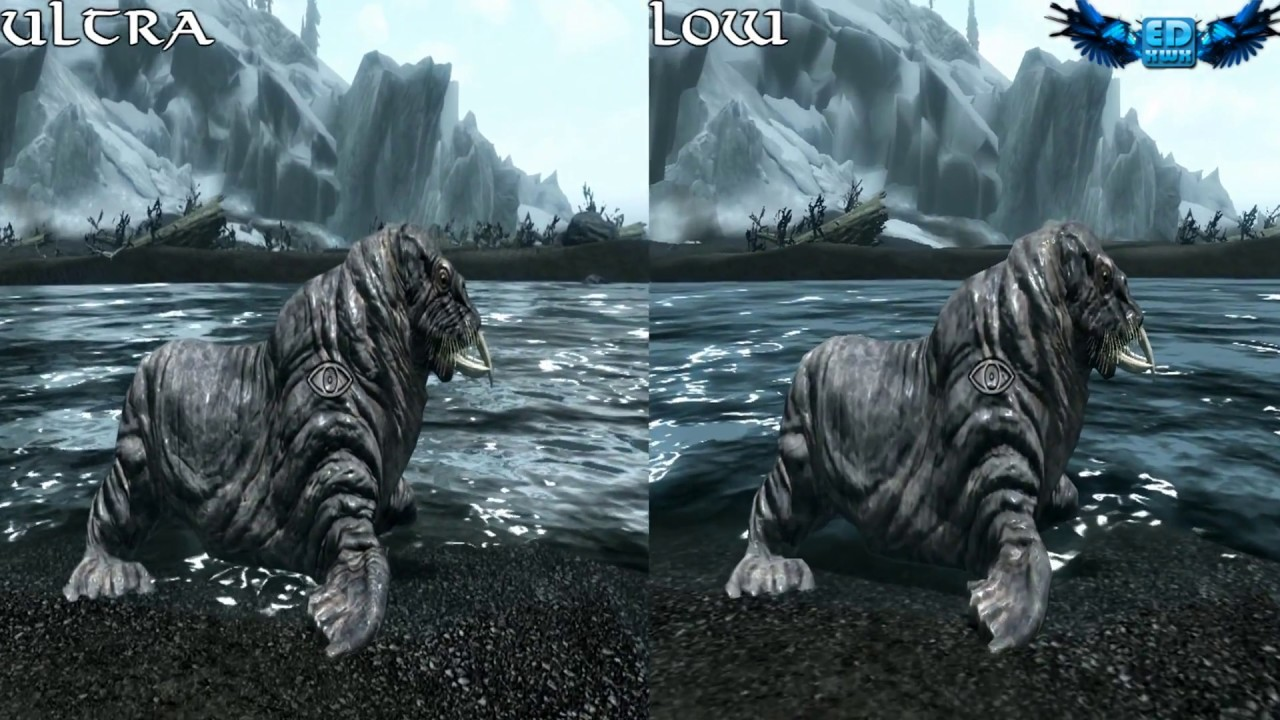 How To Set Ultra Graphics: Skyrim PC Graphics Comparison Ultra Vs Low 1080p HD
