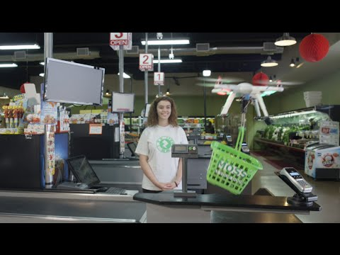 Same Day Grocery Drone Delivery Moss Supermarket