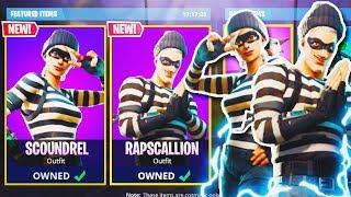 """NOVO """"Scoundrel + rapscallion"""" SKIN no Fortnite! -NOVA atualização do Fortnite! (Battle Royale do Fortnite)"""