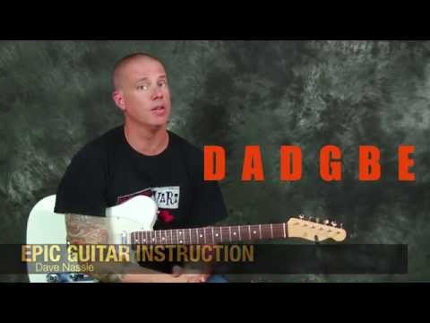 Easy and Fun Rock Guitar song lesson learn Everlong by Foo Fighters with chords rhythms licks