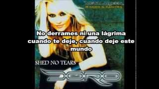 Doro Pesch feat Jean Beauvoir: Shed No Tears (Subtitulada en Español)