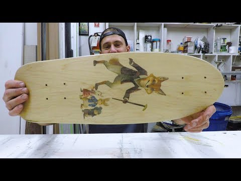 PRINT ANY IMAGE ONTO BLANK SKATEBOARDS!! (inkjet printer)