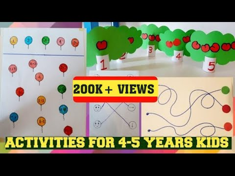 Learning Activities for 4-5 Year Old KIDS/Fun MATHS/EASY NICEY 35