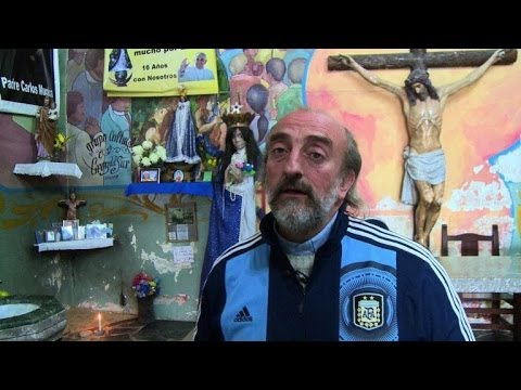 World Cup: Priest opens parish to shanty town football fans