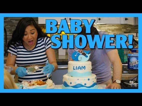Baby Shower! Baby Boy Shower! | AprilJustinTV