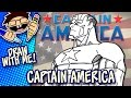 Let's Draw CAPTAIN AMERICA (Modern Comic Version) | Drawing Guide | Happy 4th of July!