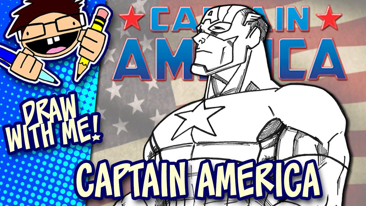 Let's Draw CAPTAIN AMERICA (Modern Comic Version ...