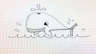 Простые рисунки #156 Кит =)