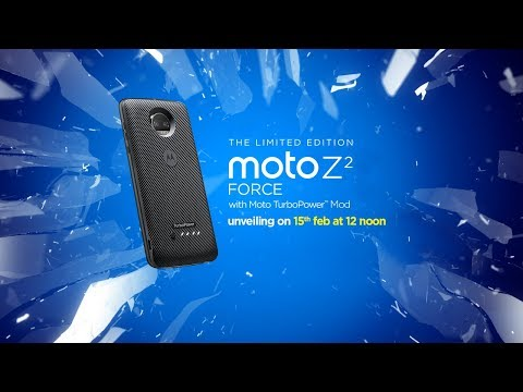 Limited Edition Moto Z2 Force with Moto TurboPower Pack | Launch Event