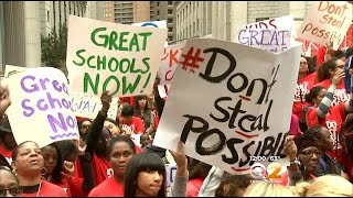 Charter School Supporters Hold Large Rally In Foley Square