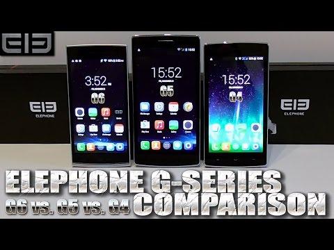 Elephone G4 vs. G5 vs. G6 [COMPARISON] G-Series, MTK6592 / MTK6582, 1280x720p HD, KitKat