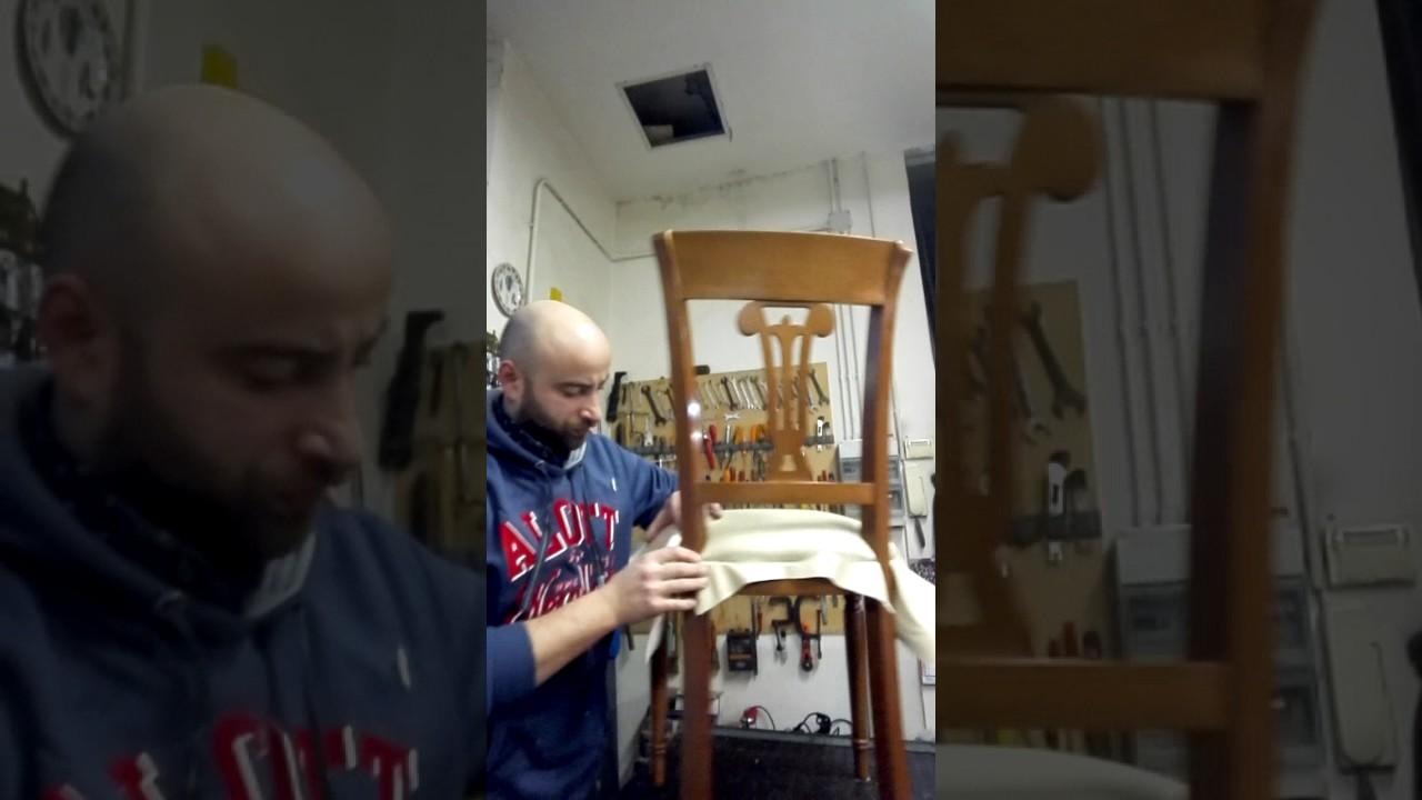 Come Tappezzare Un Muro tappezziere di muro - come tappezzare una sedia - youtube