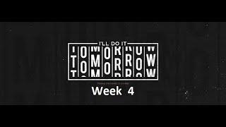 I'll Do It Tomorrow -Habits   January 24 2021