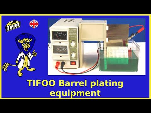 TIFOO Barrel Plating Equipment - Plating Several Items Simultaneously