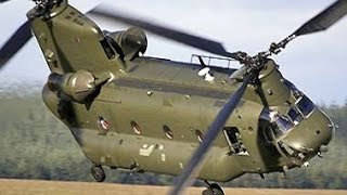 U.s army extremely powerful ch-47 chinook helicopter - giant monster of the sky