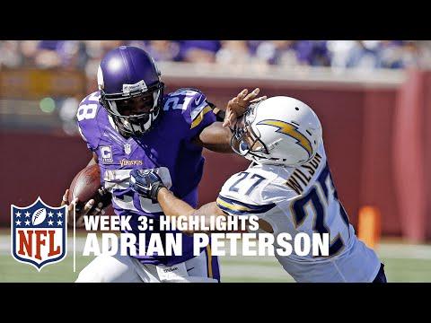 Adrian Peterson Highlights (Week 3) | Chargers vs. Vikings | NFL
