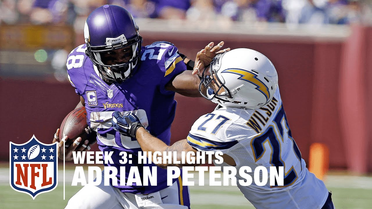Adrian Peterson Highlights Week 3 Chargers Vs Viki