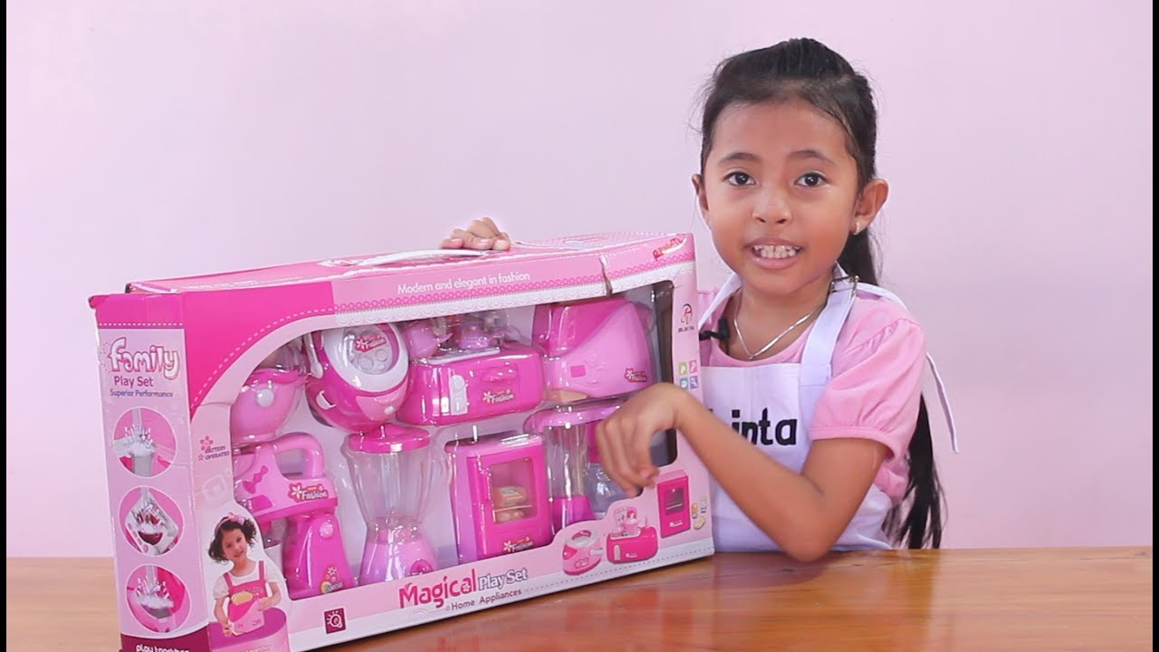 Unboxing mainan anak kitchen set toys for kids mainan for Kitchen set anak
