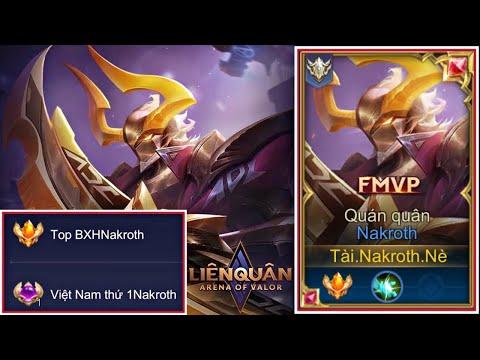 TOP 1 NAKROTH VIỆT NAM MÙA 15 Sử Dụng Trang Phục Siêu Việt Huỷ Diệt Rank Cao Thủ 5x Sao