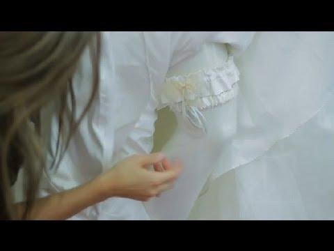 822027319e2 How to Wear a Wedding Garter   The Wedding Dress - YouTube
