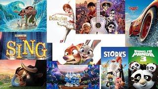 Top 10 cartoons (2016-2018) أفضل افلام الكرتون من