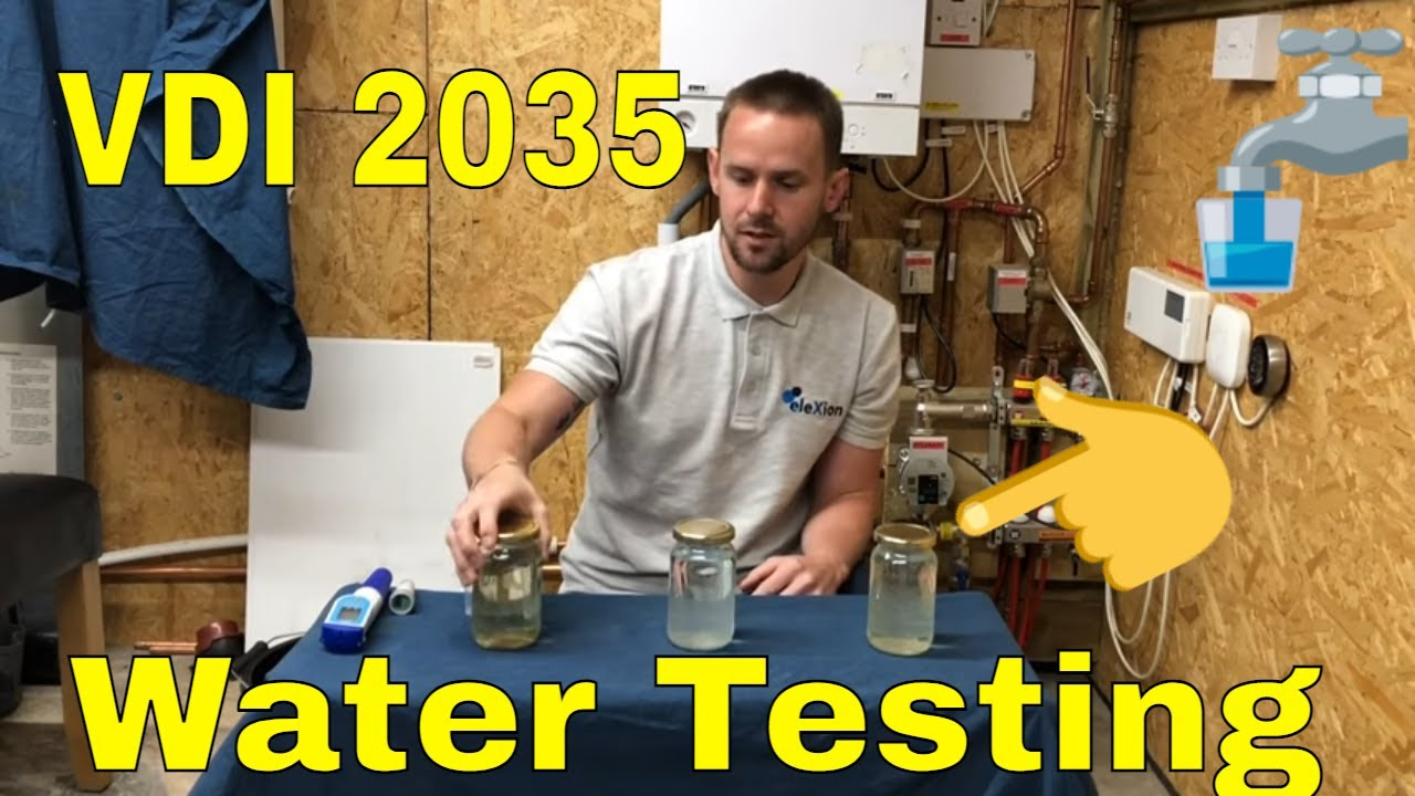 VDI 2035 water testing with Allen Hart. Clarimax filling, testing the pH, TDS & Conductivity.
