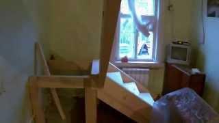53. Всё до мелочей, строительство деревянной лестницы с площадкой(, 2014-11-13T16:32:27.000Z)