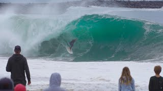 SURFING THE WEDGE BIGGEST DAY OF THE YEAR!!!