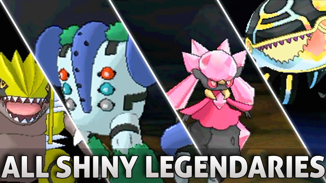 Pokemon ORAS: All SHINY Legendary Pokemon and Forms w ...