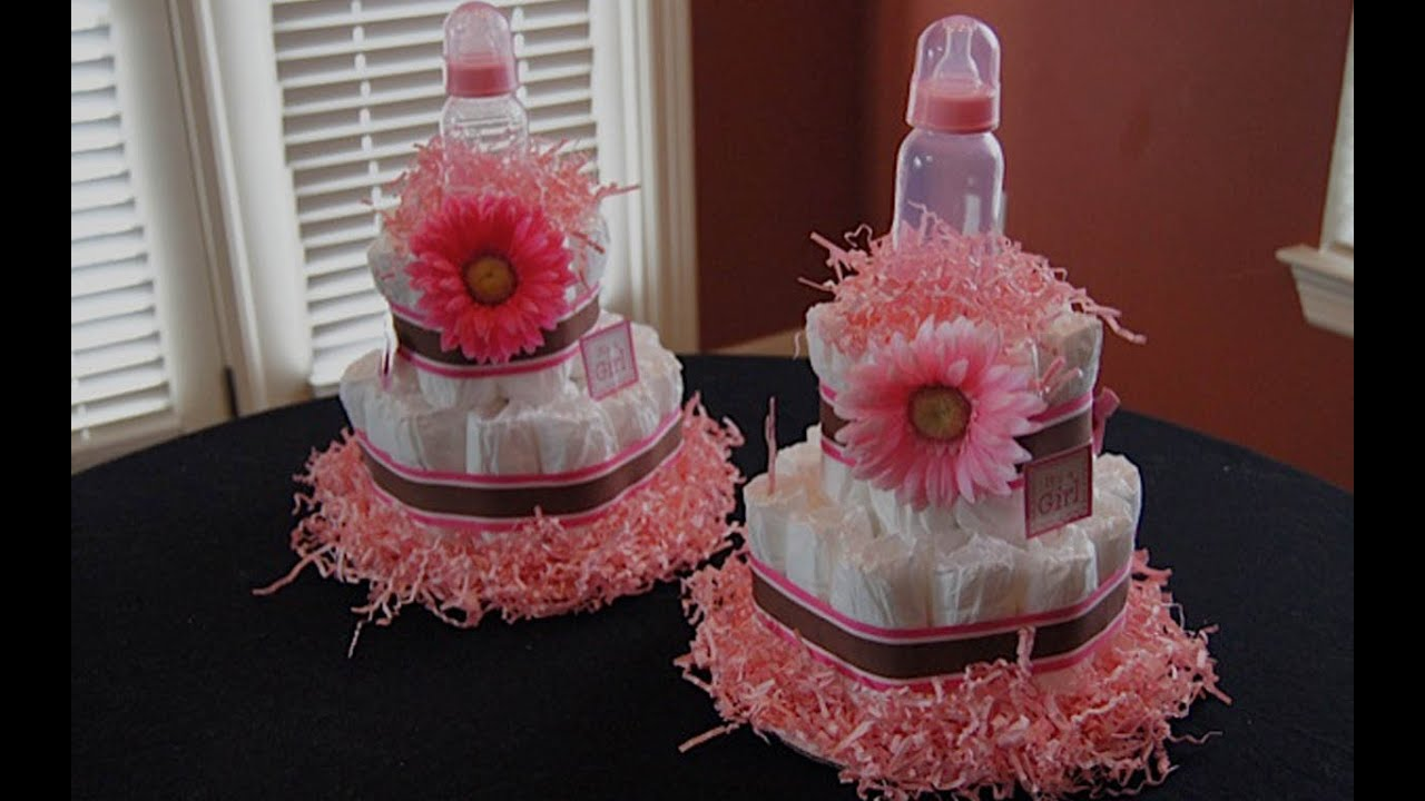 How To Make A Diaper Cake - Youtube-4323