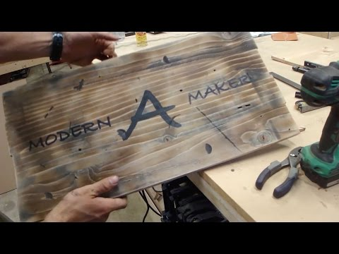 Making a Rustic, Distressed, Vintage Wood Sign (version 1.0)