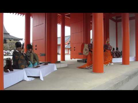Gagaku (ancient imperial court music and dances) at Kyoto Imperial Palace Spring Open Days