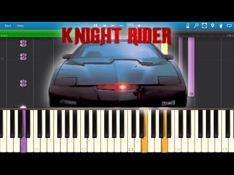 Knight Rider - K2000 TV Theme Song - Synthesia Cover - Piano Tutorial