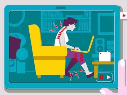بالفيديو ..الأستخدام الصحي للابتوب أو الكمبيوتر في اي مكان