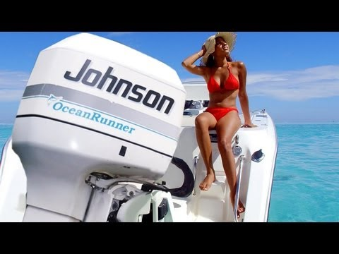 Girl In Bikini Changes Yamaha Outboard Engine Oil Repeatvid
