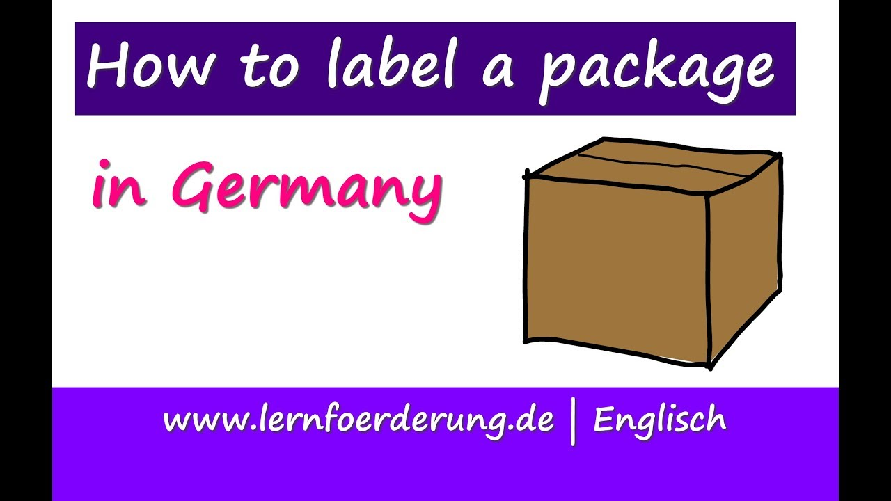 How to label a package in Germany - example and explanation