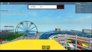 ROBLOX Corkscrew On Ride Front Seat POV Funland Theme Park