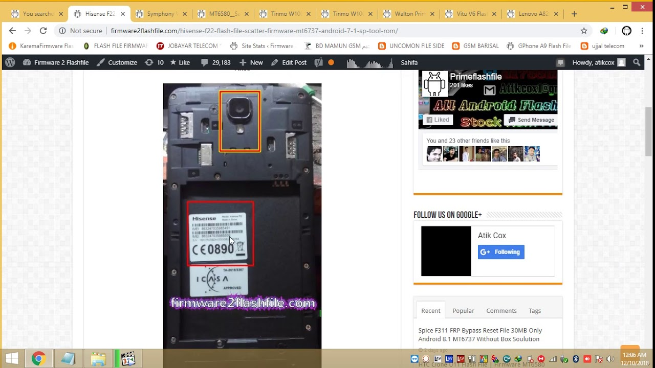 Hisense F22 Flash File SP Tool Firmware Scatter STock Rom Download