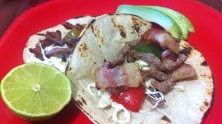 Alambre recipe (steak with peppers) How to cook mexican food