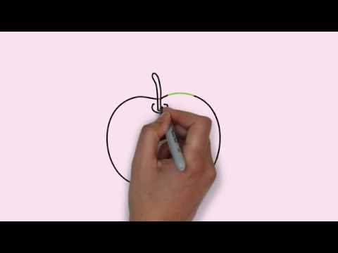 How To Draw A Apple Cara Menggambar Buah Apel Youtube
