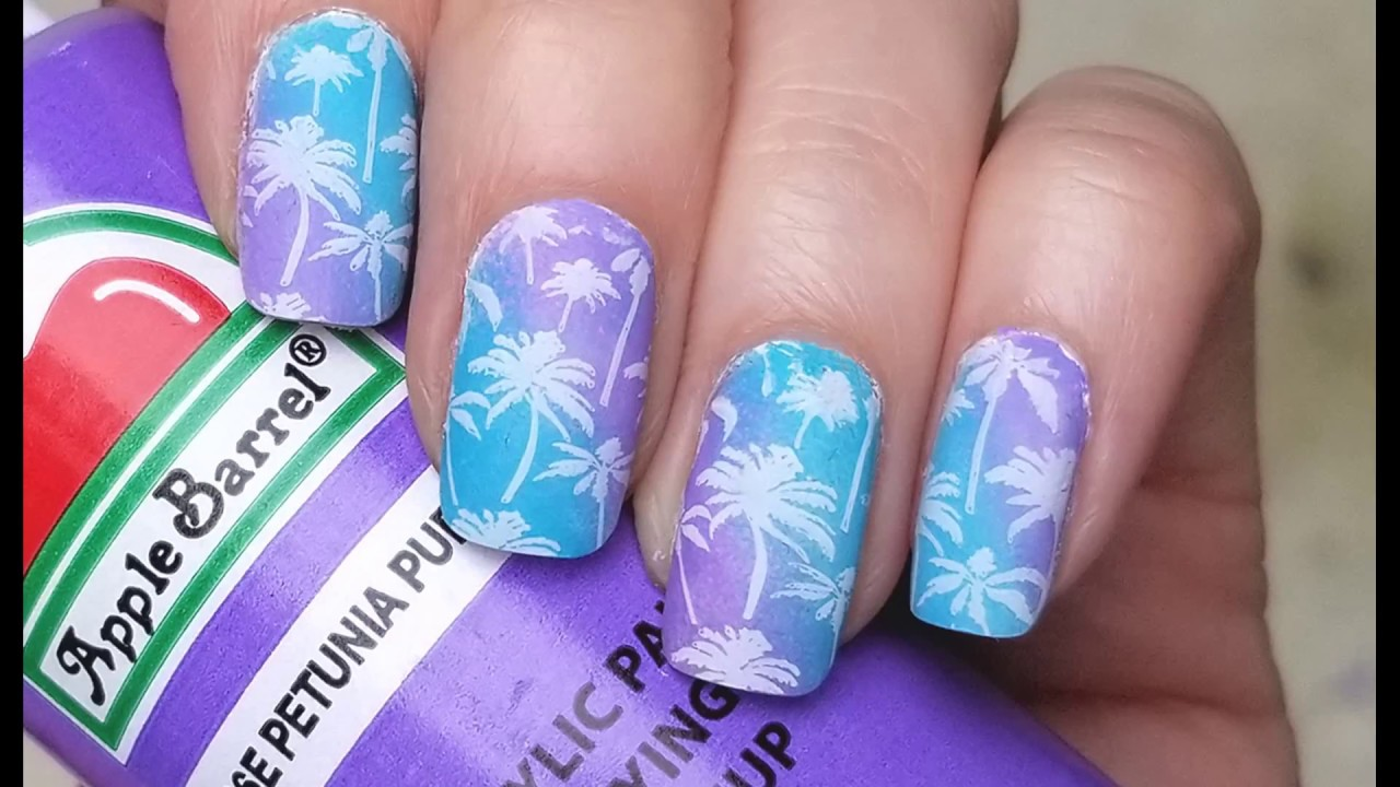 how to paint nails with acrylic paint